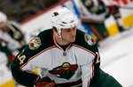 Minnesota Wild left winger Derek Boogaard warms up before facing the Colorado Avalanche in the first period of an NHL hockey game in Denver on Wednesday, Dec. 9, 2009. (AP Photo/David Zalubowski)
