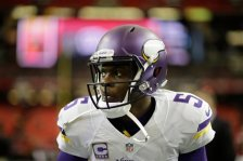Minnesota Vikings quarterback Teddy Bridgewater (5) warms up before the first half of an NFL football game between the Atlanta Falcons and the Minnesota Vikings, Sunday, Nov. 29, 2015, in Atlanta. (AP Photo/David Goldman)