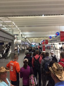 TSA line at MSP