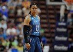 Minnesota Lynx' Maya Moore during the first half of a WNBA basketball game, Thursday, July 7, 2016, in Uncasville, Conn. (AP Photo/Jessica Hill)