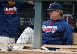 Minnesota Twins pitching coach Neil Allen remains a few moments in the dugout after the Twins lost 9-2 to the Baltimore Orioles in a baseball game Wednesday, May 11, 2016, in Minneapolis.  The Twins record is 8-25. (AP Photo/Jim Mone)