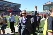 Minnesota Vikings owner Zygi Wilf before an NFL football game against the San Diego Chargers in Minneapolis, Sunday, Sept. 27, 2015. (AP Photo/Andy Clayton-King)