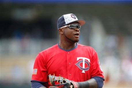 Minnesota Twins' Miguel Sano plays third base in a baseball game against the Oakland Athletics Monday, July 4, 2016, in Minneapolis. (AP Photo/Jim Mone)
