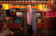 FILE - In a Sept. 29, 2006 file photo, Fox News CEO Roger Ailes poses at Fox News in New York. Fox News Channel's parent company 21st Century Fox on Monday, July 18, 2016, says there has been no resolution to its probe into the conduct of network chief Roger Ailes, who is accused by a former network anchor of forcing her out because she refused to have sex with him.(AP Photo/Jim Cooper, File)