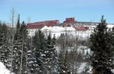 In this photo taken Feb. 10, 2016, the closed LTV Steel taconite plant is abandoned near Hoyt Lakes, Minn. The prospect remains of returning the site which was closed in 2000 into life as part of Minnesota's first copper-nickel mine owned by PolyMet. But PolyMet is still far from a done deal. Unlike taconite, the area�s copper-nickel reserves are locked up in sulfide-bearing minerals that can leach acids and toxic metals when exposed to the elements. (AP Photo/Jim Mone)