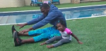 Randy Moss and daughter