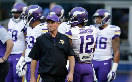 Minnesota Vikings head coach Mike Zimmer walks on the field before a preseason NFL football game against the Seattle Seahawks, Thursday, Aug. 18, 2016, in Seattle. (AP Photo/John Froschauer)