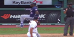 Kennys Vargas breaks bat