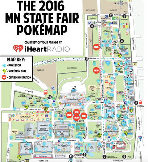 Pokemon State fair map