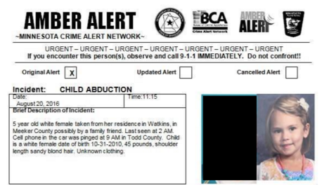 Amber Alert Meeker County Sheriff