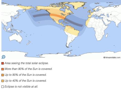 Solar eclipse path