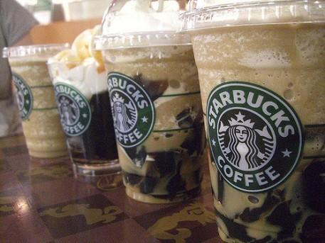 Starbucks iced coffees