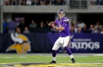 Minnesota Vikings quarterback Joel Stave throws a pass during the first half of an NFL preseason football game against the Los Angeles Rams Thursday, Sept. 1, 2016, in Minneapolis. (AP Photo/Andy Clayton-King)