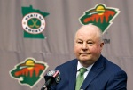 FILE - In this May 10, 2016, file photo, Bruce Boudreau is introduced as the new Minnesota Wild head coach during a news conference by the NHL hockey team in St. Paul, Minn. The Boudreau era has begun for the Minnesota Wild. For the players, the demands will be many. The expectations will be as straightforward as can be. (AP Photo/Jim Mone, File)