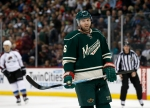 Minnesota Wild left wing Thomas Vanek, of Austria, gets into position for a face-off during the second period of an NHL hockey game against the Colorado Avalanche in St. Paul, Minn., Saturday, Dec. 5, 2015. (AP Photo/Ann Heisenfelt)
