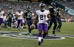 Minnesota Vikings running back Jerick McKinnon (21) runs for a touchdown against the Seattle Seahawks in the first half of a preseason NFL football game, Thursday, Aug. 18, 2016, in Seattle. (AP Photo/John Froschauer)