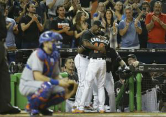Marlins get leadoff homer in first game after Jose Fernandez's death