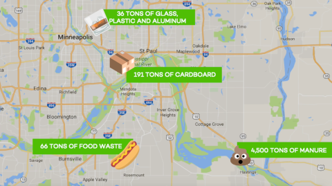 State fair waste map